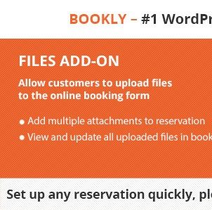 Bookly Files (Add-ons)