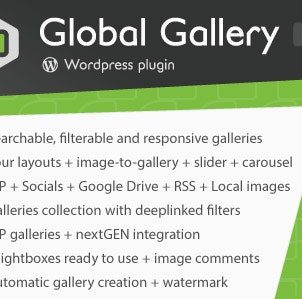 Global Gallery – WordPress Responsive Gallery … Create searchable, filterable, fully responsive and adaptive galleries on your website